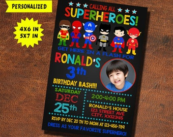 Superhero Invitation / Superhero Birthday / Superhero Party / Superhero Birthday Invitation / Superhero Invite / Superhero Party Invitation
