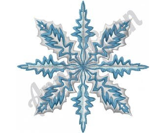 Layered Snowflake - Machine Embroidery Design