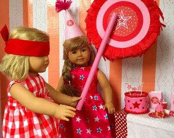 American Girl Party Piñata 18 inch Dolls, Birthday Supplies for Doll Party Game, miniature piñata Set with candy
