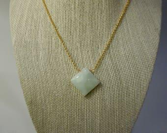 Square Jade Necklace