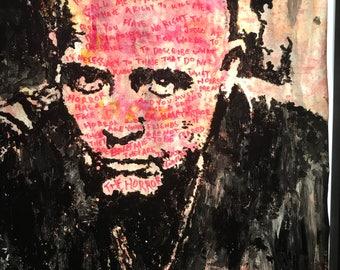 Horror. Portrait of Marlon Brando as Col Kurtz Apocalypse Now