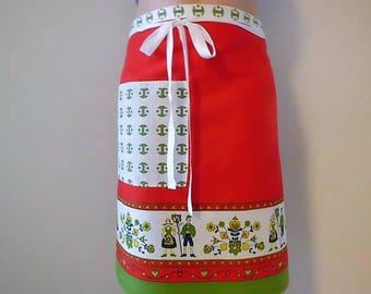 Bistro apron, 70's fabric