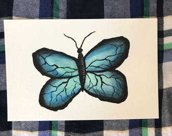 4x6 Butterfly - Watercolor