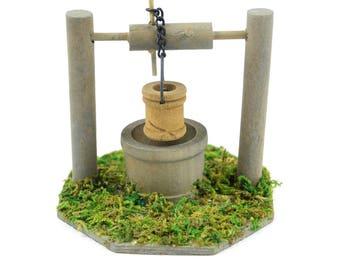"Wishing Well, 3.5"" x 3"" - Miniature Fairy Garden Dollhouse"
