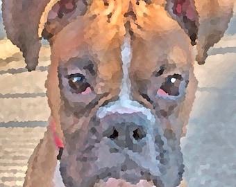 Boxer Dog Digital Print Photography Wall Decor Dog Lovers Gift for Him Gift for Her Animal Art Home Decor Photo Room Decor Dog Portrait
