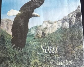 The black soar Eagle napkin