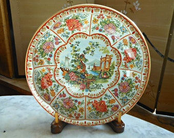 Daher Decorated Ware Tin Bowl Platter - Portrait Bowl - Vintage Tin Bowl - Vintage Daher - Gifts Under 10 - Made in England