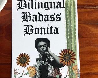 Bilingual Badass Bonita Print