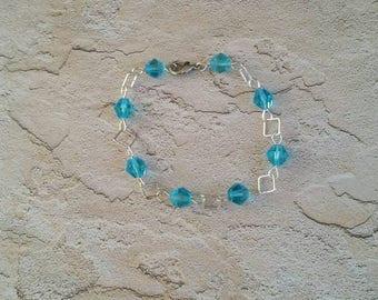 Delicate Light Blue Bracelet, Handmade beaded bracelet