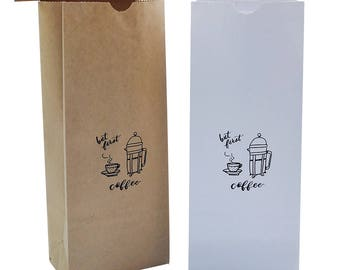 Kraft Coffee Bags/Coffee Bean Bag/Ground Coffee bags/Teas Bags/Gift Bags/Party Favor