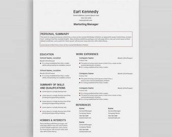Modern Resume Template | Professional Resume Template | CV Template |  Creative Resume| CV Design  Sample Professional Resume Templates