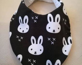 Rabbit Handmade fabric bandana bib