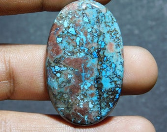 Natural Azurite Cabochon,Loose Stone,Gemstone,Gorgeous Azurite Cabochon Excellent Gemstone 100%Natural 44.15cts.(40x20x5)mm