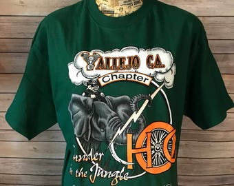 Vintage 90s Harley Davidson Thunder In The Jungle T-Shirt (L)