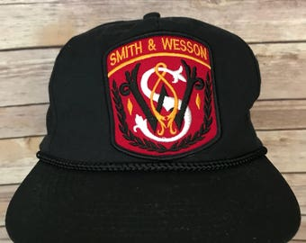 Vintage Smith & Wesson Patch Snapback Hat