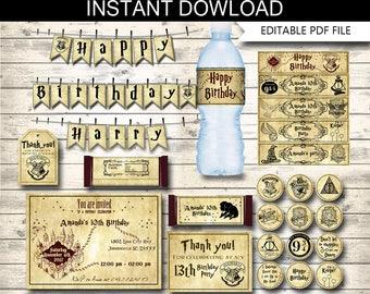 Marauders map,Harry potter invitation,Harry Potter,,Hogwarts invite,Hogwarts birthday,Harry Potter invites,Hogwarts invitation,Potter banner