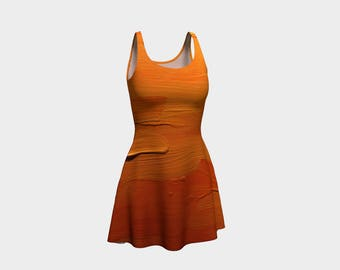 Orange Gal Ladies Flare Dress