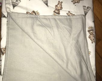 Indian Teddies Bunny Rug/Baby Blanket