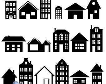 House cricut, Clipart house, building clipart, stencils svg, home cricut, svg files, building dxf, house dxf, house clipart, house svg, dxf