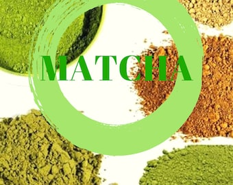 Matcha Sampler Pack. Try 5 Different Matchas In One Package. Value Pack. Very Rich In Antioxidants. 100% Natural.