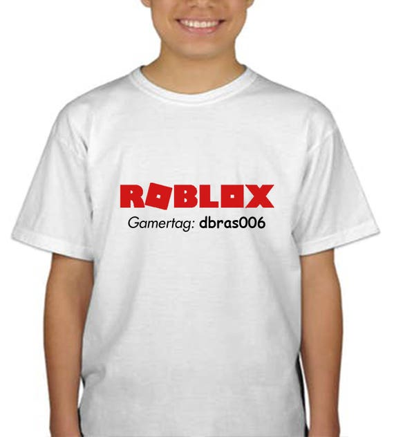 roblox kids shirt    with or without gamer tag made to order