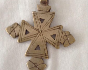 Old ethiopisches carved cross