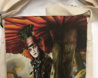 The madhatter , alice in wonderland small bag