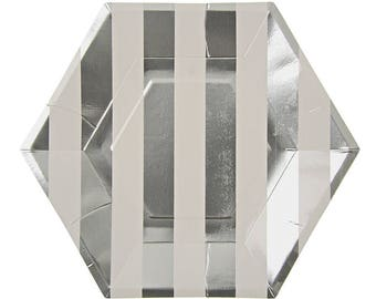 Silver Hexagon Plate