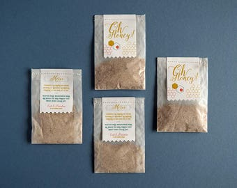 20+ Seeds for Bees Wedding Favour, party gift, wildflower glassine bags