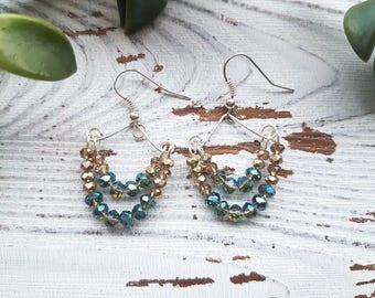 Dangle earrings, dangle earrings women, beaded earrings, blue earrings, beaded earrings handmade