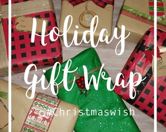 Holiday Gift Wrap Add-On Option