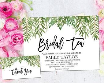 Bridal Tea Invitation, Bridal Tea Party Invitations, Greenery Bridal Tea, Boho Bridal Tea, Bridal Tea Party, INSTANT DOWNLOAD, A-BT7
