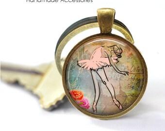 Ballet Dancer Key Ring • Ballerina • Graceful Ballerina • Dance Student • Dance Teacher • Gift Under 20 • Made in Australia (K557)