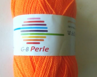 G-B Pearl acrylic yarn 50 g colour orange 1010 for knitting and crochet