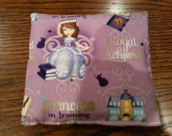 Boo Boo Pack, Ouch Pouch, Reuseable Hot or Cold Rice Packs, Kids Ice Pack, Rice Handwarmers, Heating Pad, Set of 2, Sophia the First fabric!