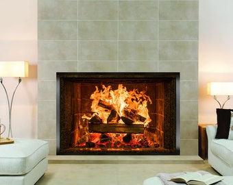 log wall covering etsy fireplace wall decal sticker fireplace surround wall sticker