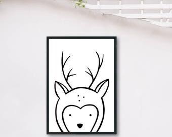 Deer Light DIGITAL PRINT