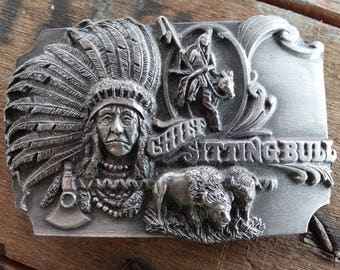 Chief Sitting Bull Belt Buckle