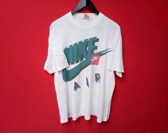 vintage nike air big logo large mens t shirt