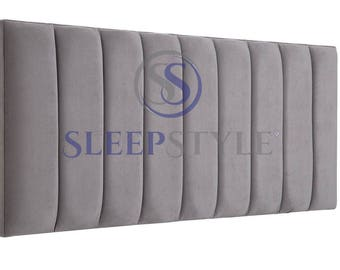 4FT6 Double Solar Upholstered Headboard - Choose Any Fabric, Also Available In Various Heights