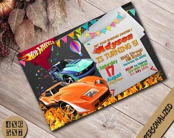 Hot Wheels Invitation,Hot Wheels Birthday Invitation,Disney Hot Wheels,Hot Wheels Party,Hot Wheels Invite,Hot Wheels Birthday,Hot Wheels