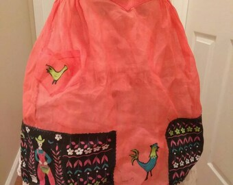 Vintage 1950s Country Style Apron