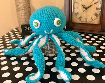 Crochet Stuffed animal toy octopus
