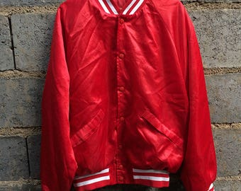King Louie Pro Fit Satin Jacket Workers America Band Style Medium