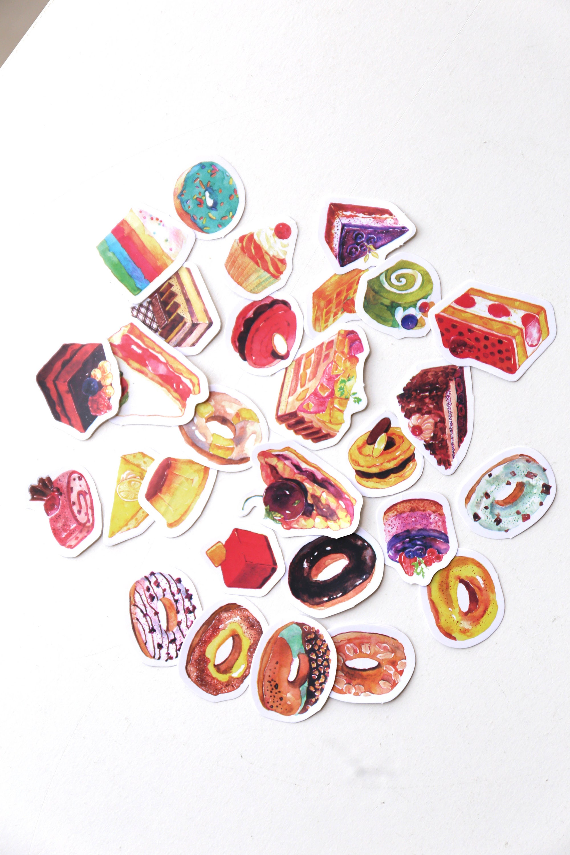 e9e274a98fdc Doughnuts stickers set  Planner Stickers  Filofax Stickers Lap top stickers Scrapbook  Sticker OS049 from OlivaDesignCrafts on Etsy Studio
