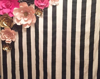 Kate Spade Inspired Paper Flower set and Backdrop