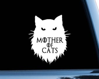 Game Of Thrones Car Sticker Cat Car Decal Daenerys Targaryen Symbol Bumper Sticker Logo Bumper Decal Window Sticker Mother Of Cats m1162