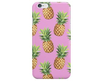 Pineapple Food Pink Summer Phone Case Cover for Apple iPhone 5 6 6s 7 8 Plus & Samsung Galaxy S6 S7 S8 Plus