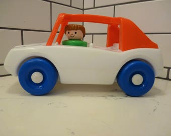 Vintage Little Tikes Toddle Tots Car, Mid 80's, Push pull Toys, Little Tikes, Vintage Toys, Very Good to Excellent