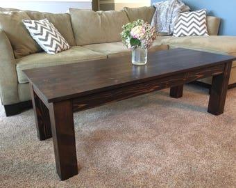Straight Leg Farmhouse Coffee/End Table Set